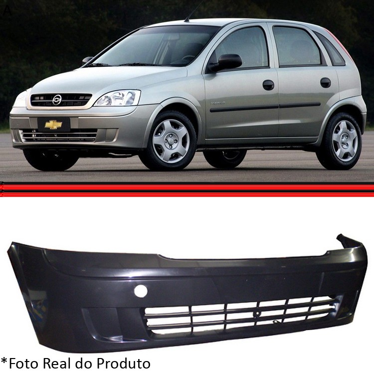 Parachoque Dianteiro Corsa 03 a 07 Sem Milha Preto Liso  - Amd Auto Peças