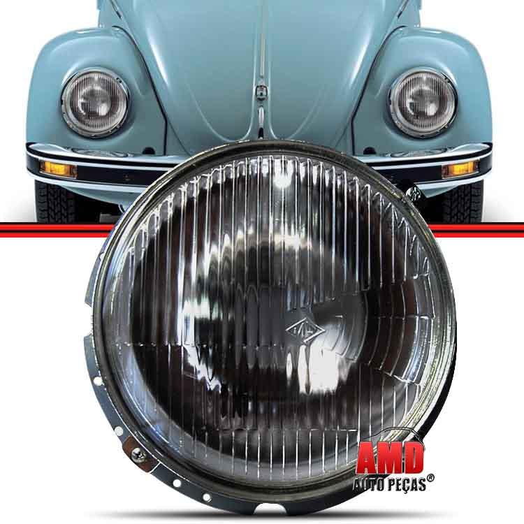 Farol Fusca 76 a 96 Kombi Clipper 75 a 96 Kombi Carat 97 a 14 Passat 74 a 77  - Amd Auto Peças