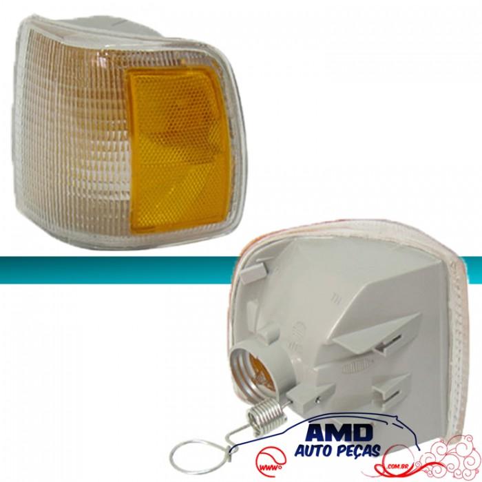 Lanterna Dianteira Gol Parati Saveiro Voyage 91 á 95 Cristal Pisca Amarelo Encaixe Arteb  - Amd Auto Peças