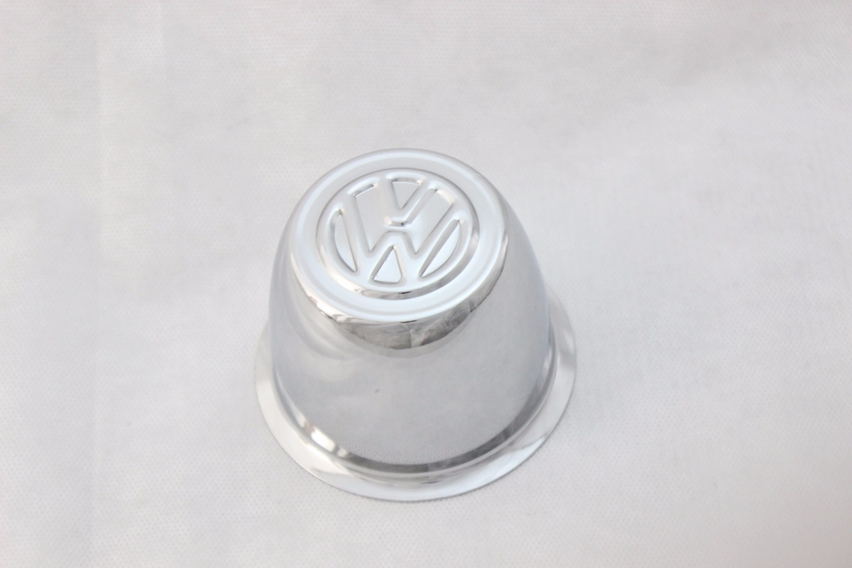 Copo Copinho Calota Centro Roda Fusca 70 a 96 4 Furos Aço com Emblema Prensado  - Amd Auto Peças