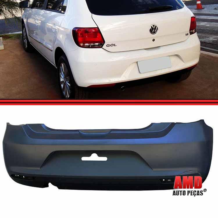 Parachoque Traseiro Gol GVI G6 12 a 16 Preto Liso Com Furo Para Refletor  - Amd Auto Peças
