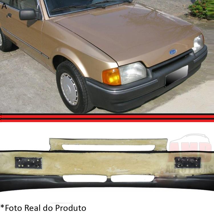 Parachoque Dianteiro Escort L GL 87 a 92 Com Espuma Interna Preto  - Amd Auto Peças