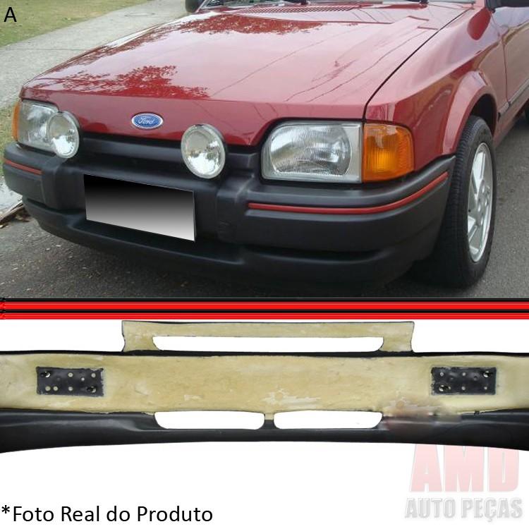 Parachoque Dianteiro Escort XR3 87 a 92 Preto com Espuma Interna  - Amd Auto Pe�as