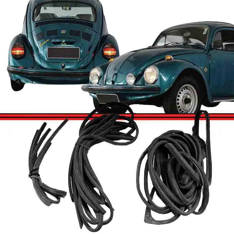 Kit Borracha Porta + Capo + Motor Fusca e Fusca Fafá 78 a 96 Modelo de Colar