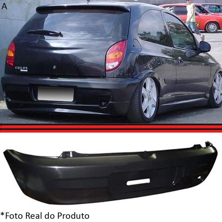 Parachoque Traseiro Celta 01 A 05 Preto Liso  - Amd Auto Pe�as