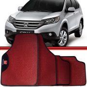 Jogo Tapete Automotivo Carro Civic Honda CR-V Vermelho