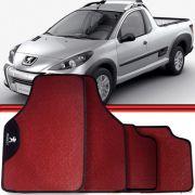Jogo Tapete Automotivo Carro Peugeot 308 Hoggar Vermelho