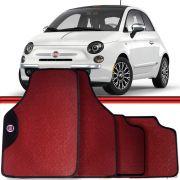 Jogo Tapete Automotivo Carro Fiat 500 Tempra Stilo Vermelho