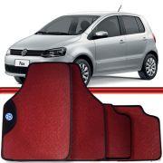 Jogo Tapete Automotivo Carro Fox 03 a 15 Vermelho