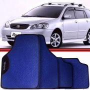Jogo Tapete Automotivo Carro Fielder Corolla Etios Azul