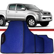 Jogo Tapete Automotivo Carro Hillux Pick-up Corolla Azul