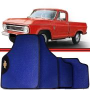 Jogo Tapete Automotivo Carro D20 C10 D10 Azul