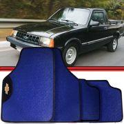 Jogo Tapete Automotivo Carro Chevy-500 Azul