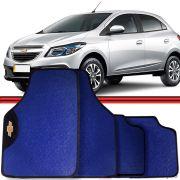 Jogo Tapete Automotivo Carro Onix Cobalt Prisma Azul