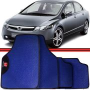 Jogo Tapete Automotivo Carro New Civic Azul