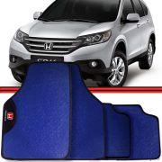 Jogo Tapete Automotivo Carro Civic Honda CR-V Azul