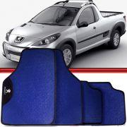 Jogo Tapete Automotivo Carro Peugeot 3008 Hoggar Azul