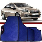 Jogo Tapete Automotivo Carro Linea Brava Idea Marea Azul