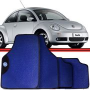 Jogo Tapete Automotivo Carro Golf New Beetle Azul