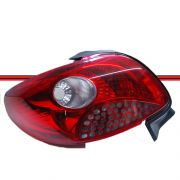 Lanterna Traseira Peugeot 207 Passion Sedan 08 a 11 Grade Vermelha