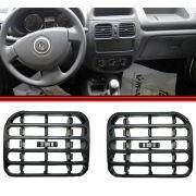 Tela Grade Ar Difusor Painel Central e Lateral Clio Sedan Hatch 00 a 10 Cinza