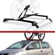 Kit Rack Travessa Wave Baixo + Suporte Bike Fox 04 em diante 2 Portas Preto