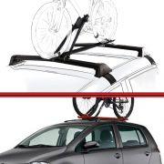 Kit Rack Travessa Wave Baixo + Suporte Bike Fox 04 em diante 4 Portas Preto