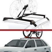 Kit Rack Travessa Wave Baixo + Suporte Bike Gol G3 G4 99 a 08 New Wave 2 ou 4 Portas Preto