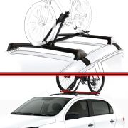 Kit Rack Travessa Wave Baixo + Suporte Bike Gol Voyage G5 08 a 13 4 Portas Preto