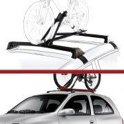 Kit Rack Travessa Wave Baixo + Suporte Bike Corsa 02 em diante Preto