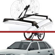 Kit Rack Travessa Wave Baixo + Suporte Bike Gol G3 G4 99 a 08 2 ou 4 Portas Preto