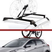 Kit Rack Travessa Wave Baixo + Suporte Bike I30 Preto