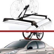 Kit Rack Travessa Wave Baixo + Suporte Bike 206 207 01 em diante 4 Portas Preto
