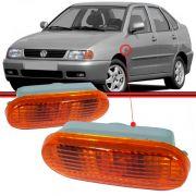 Lanterna Paralama Pisca Seta Polo Classic 96 a 01 Van Cordoba Inca Ibiza Caminhão VW 2000 Âmbar com Soquete