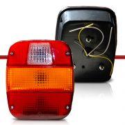 Lanterna Traseira Carreta Universal Caminhões Volks Ford Cargo Com Vigia de Luz de Placa
