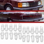 Kit Presilha Grampo do Friso Alumínio Opala Caravan 81 a 89 20 Peças