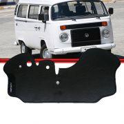 Tapete Cabine Kombi Carat 10 a 13 Borracha Preto Modelos com Radiador Motor a Água Fléx