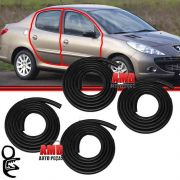 Kit Borracha Porta Peugeot 206 207 Hatch 2/4 Ptas 4pcs 39710