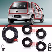 Kit Borracha Portas + Porta Mala Corsa Hatch 94 a 12 Sedan 96 a 12 Wagon 97 a 01 4 Portas