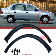 Par Moldura Paralama Corsa Wind Hatch Sedan Wagon Pic-Up 94 a 10 Preto Liso