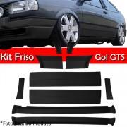 Kit Friso Lateral Gol GTS 91 � 95 Rolo Friso + Capa Coluna + Spoiler Preto