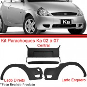 Kit Parachoque Dianteiro Ford Ka 02 � 07 Preto  - Amd Auto Pe�as