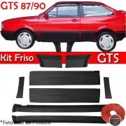 Kit Friso Lateral Gol GTS 87 á 90 Rolo Friso + Capa Coluna + Spoiler Preto