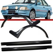 Kit Spoiler Lateral Escort XR3 87 a 92 Hobby 92 a 95 Preto