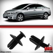 Kit Grampos Fixação Vão Roda Honda Civic Accord 10 Unidades