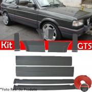 Kit Friso Lateral Gol GTS 91 a 95 Rolo Friso + Capa Coluna + Spoiler Cinza