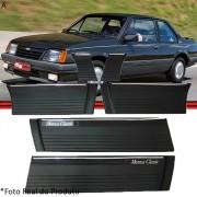 Kit Jogo Friso Monza Classic 87 a 90 2 Portas Preto Largo 25 Cm