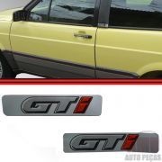 Par Adesivo Emblema Coluna Gol GTI