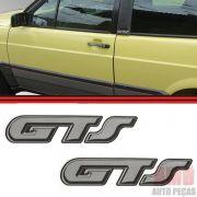Par Adesivo Emblema Coluna Gol GTS