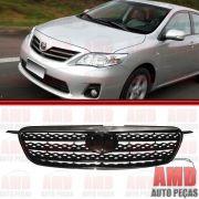 Grade Dianteira Radiador Toyota Corolla XEI Preta com Moldura Cromada